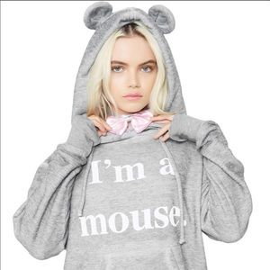 🆕Like New Wildfox I'm a Mouse Hoodie